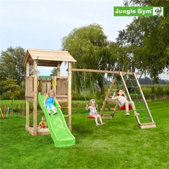 Legetårn komplet Jungle Gym Casa inkl. Climb module x'tra og rutschebane