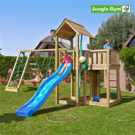 Legetårn komplet Jungle Gym Mansion inkl. Climb module x'tra ekskl. rutschebane