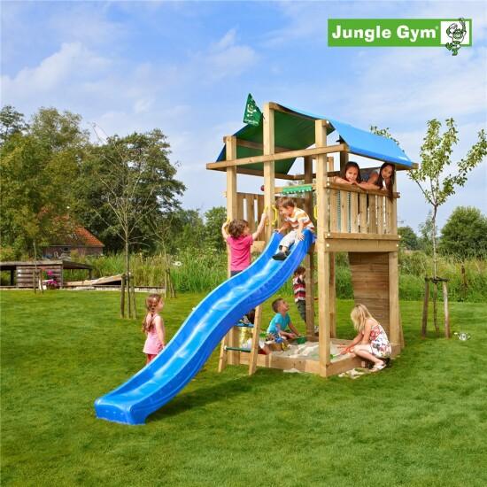 Legetårn komplet Jungle Gym Fort inkl. rutschebane
