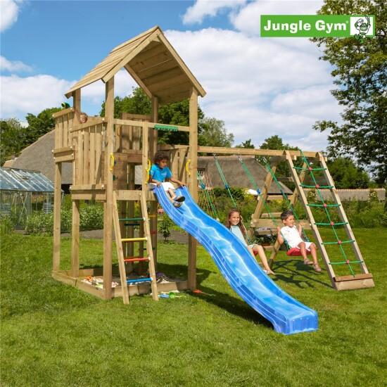 Legetårn komplet Jungle Gym Palace inkl. Climb module x'tra ekskl. rutschebane
