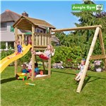 Legetårn komplet Jungle Gym Cottage inkl. Swing module x'tra ekskl. rutschebane