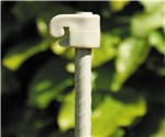 Tentorpæl 8 mm, grå med grå isolator