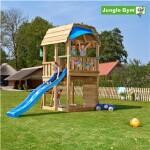 Legetårn komplet Jungle Gym Barn inkl. rutschebane