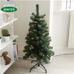 Kunstigt juletræ 90 x 48 cm med lys