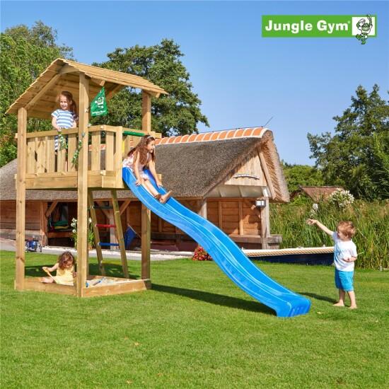 Legetårn komplet Jungle Gym Shelter inkl. rutschebane