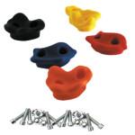 NORDIC PLAY Klatresten 5 stk. inkl. skruer, plastik
