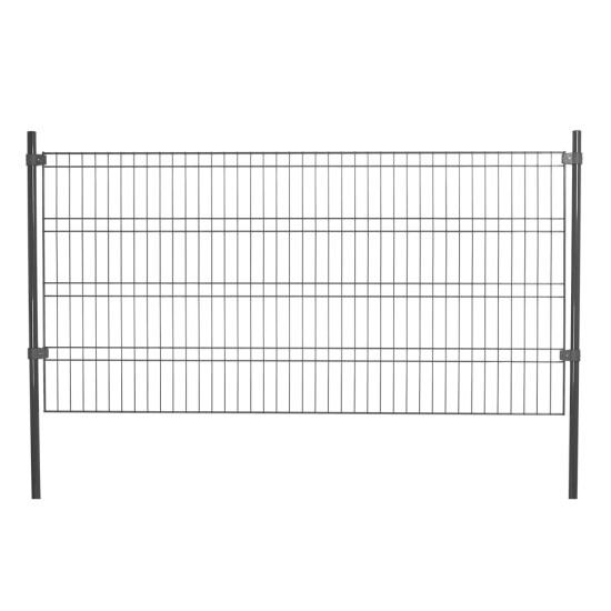 Panelhegn hegnspakke tillægsmodul, grå