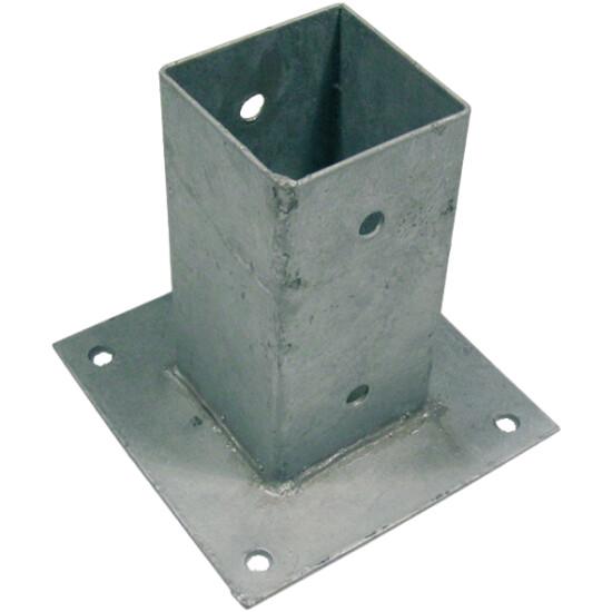 Stolpefod galvaniseret 76 x 76 mm, H: 150 mm