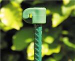 Tentorpæl 8 mm, grøn med grøn isolator