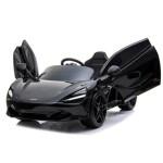 Elbil McLaren 720S 12V, med EVA-hjul og lædersæde, sort NORDIC PLAY