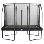 Trampolin Comfort Edition rektangulær 214x305 cm, sort inkl. sikkerhedsnet