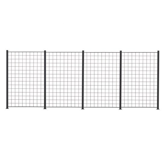 4 Fag espalier antracit grå 150 x 100 cm inkl. 5 alu stolper 158 cm