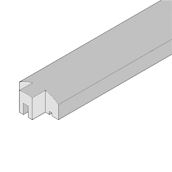 HORTUS Lige top til profilhegn 6 x 3 x 200 cm