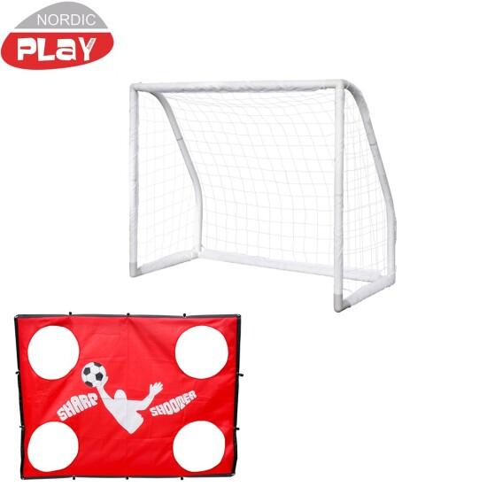 Pro Goal  Fodboldmål NORDIC PLAY 165 x 135 x 76 cm inkl. Sharpshooter