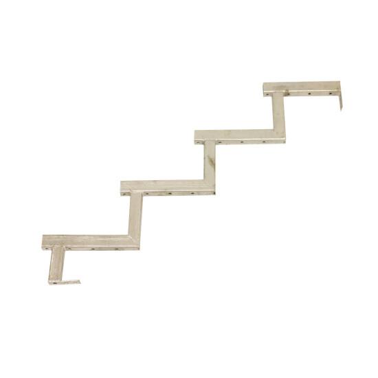 Galvaniseret trappevange 4-trin