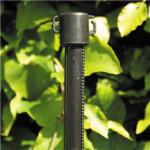 Plante-/hegnspæl med krog 125 cm, sort