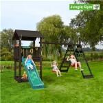 Legetårn komplet Jungle Gym Casa inkl. Climb module x'tra og rutschebane, grundmalet sort