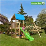 Legetårn komplet Jungle Gym Home inkl. Swing module x'tra ekskl. rutschebane