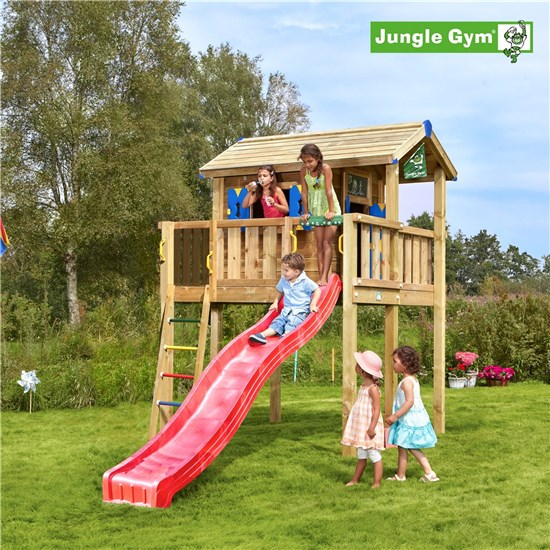 Legehustårn XL komplet Jungle Gym ekskl. rutschebane