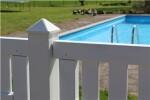 Kokille hvid alutop, PYRA 104 stolpehat