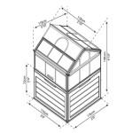 Drivhus lille med opbevaring PALRAM
