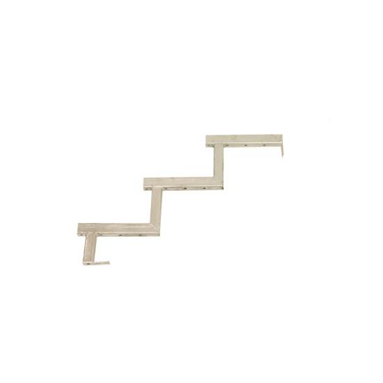 Galvaniseret trappevange 3-trin