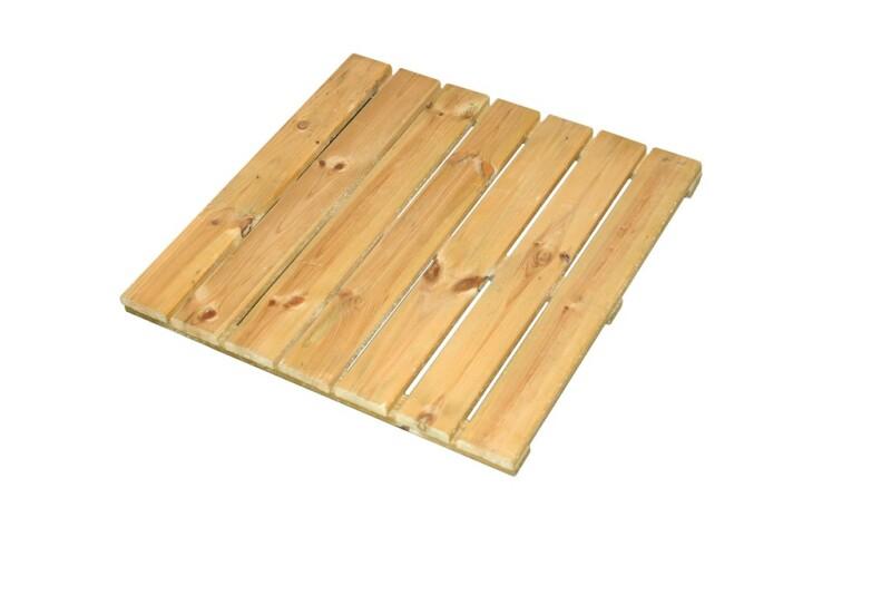 Træflise trykimprægneret 50 x 50 cm, 64 stk