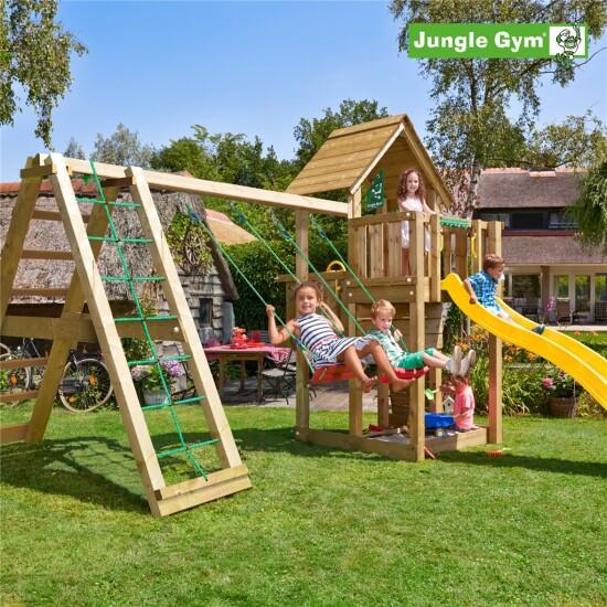 Legetårn komplet Jungle Gym Cubby inkl. Climb module x'tra og rutschebane
