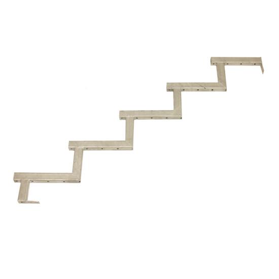 Galvaniseret trappevange 5-trin