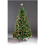 Kunstigt juletræ 180 x 118 cm, med lys