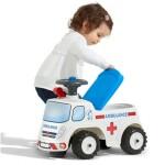 Ambulance ride-on med opbevaringsrum, rat og horn FALK