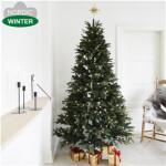 Kunstigt juletræ 210 x 142 cm mix med lys