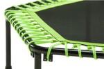 Fitness trampolin med håndtag, grøn