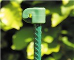 Tentorpæl 10 mm, grøn med grøn isolator