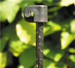 Tentorpæl 10 mm, sort med sort isolator