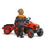Traktor med vogn FALK Kubota