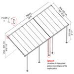 Terrasseoverdækning PALRAM Feria 21,6 m2, antracitgrå