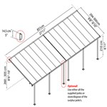 Terrasseoverdækning PALRAM Feria 25,1 m2, hvid