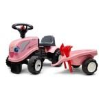 Traktor m. trailer, rive og skovl FALK Baby girl New Holland