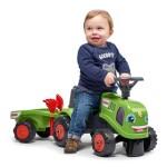 Traktor med trailer, rive og skovl FALK Baby Claas