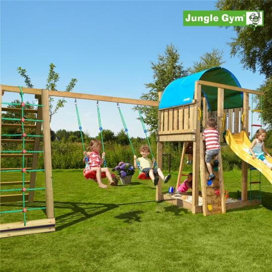 Legetårn komplet Jungle Gym Villa inkl. Climb module x'tra og rutschebane