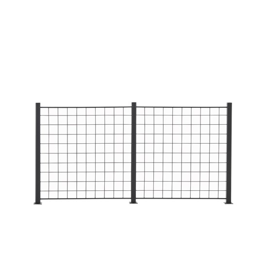 2 Fag espalier antracit grå 100 x 100 cm inkl. 3 alu stolper 108 cm