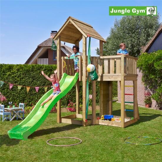 Legetårn komplet Jungle Gym Mansion inkl. rutschebane