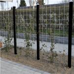 3 fag HORTUS Rio-net espalier galvaniseret 90 x 120 cm inkl. beslag inkl. 4 sortmalet stolper 240 cm