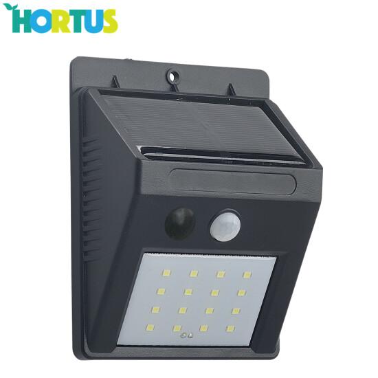 Solcellelampe med sensor 2-pak HORTUS, 16 SMD