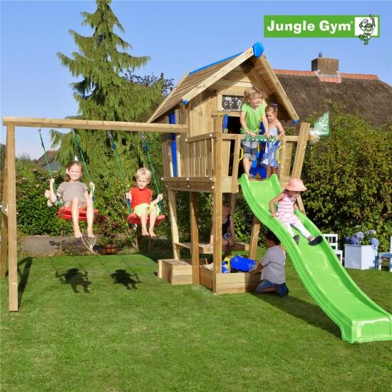 Playhouse tårn komplet Jungle Gym Crazy inkl. Swing module x'tra og rutschebane