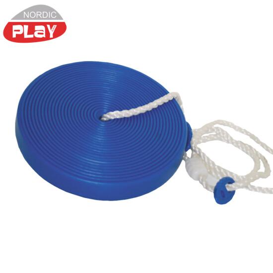 Tallerkengynge NORDIC PLAY med reb, blå