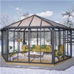 Garda lukket havepavillon, grå