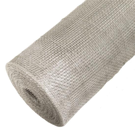 Insektnet galvaniseret 0,3 x 20 m, grå