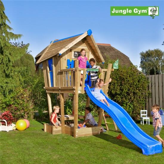 Playhouse tårn komplet Jungle Gym Crazy inkl. rutschebane
